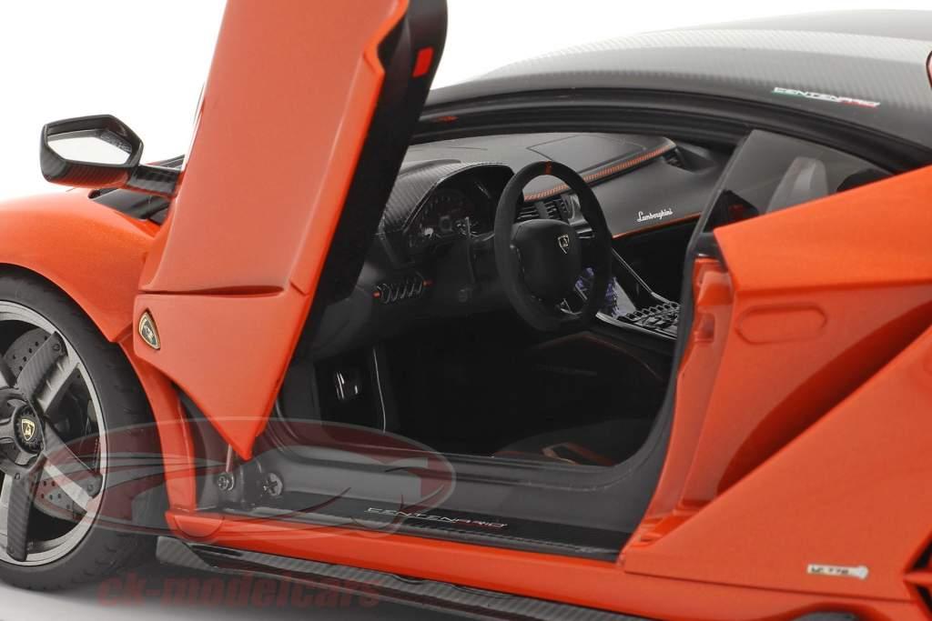 Lamborghini Centenario Año de construcción 2016 perla naranja 1:18 AUTOart