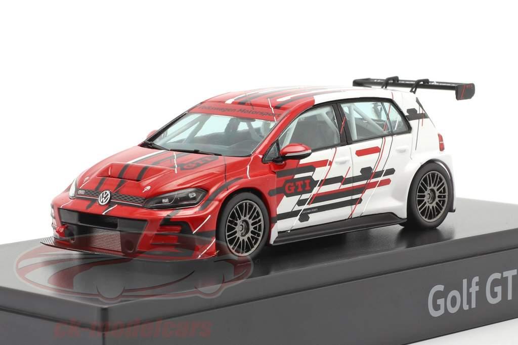Volkswagen VW Golf VII GTI TCR Anno di costruzione 2019 rosso / bianca 1:43 VW Motorsport