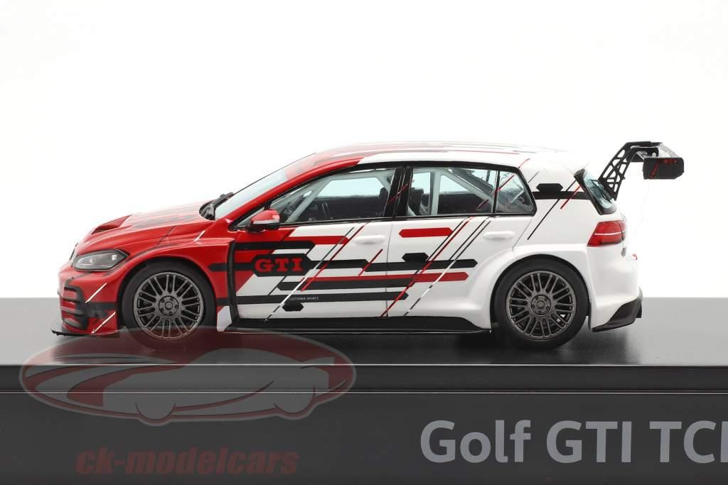 Volkswagen VW Golf VII GTI TCR Byggeår 2019 rød / hvid 1:43 VW Motorsport