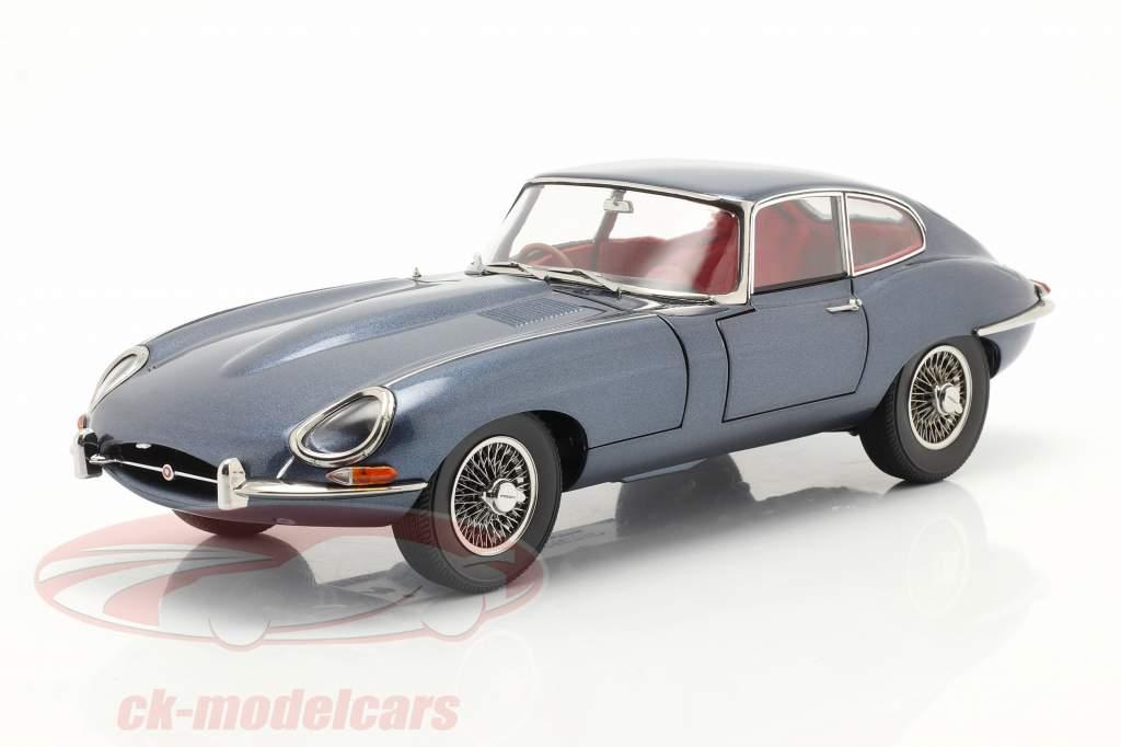 Jaguar E-Type Coupe RHD Année de construction 1961 bleu foncé métallique 1:18 Kyosho