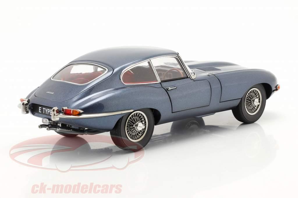 Jaguar E-Type Coupe RHD Anno di costruzione 1961 blu scuro metallico 1:18 Kyosho