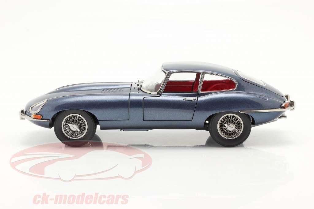 Jaguar E-Type Coupe RHD Año de construcción 1961 azul oscuro metálico 1:18 Kyosho