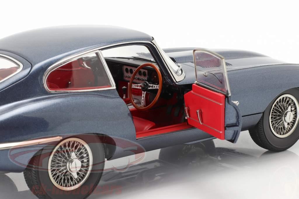 Jaguar E-Type Coupe RHD Baujahr 1961 dunkelblau metallic 1:18 Kyosho