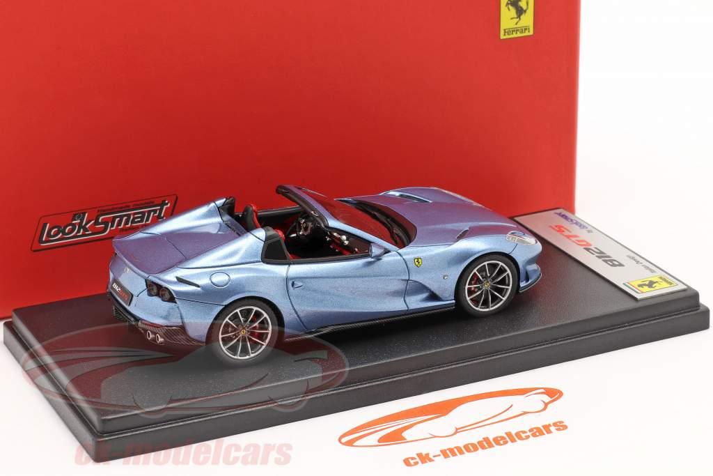Ferrari 812 GTS Spider Ano de construção 2019 Califórnia Azul claro metálico 1:43 LookSmart