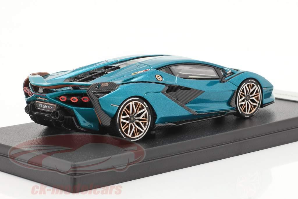 Lamborghini Sian FKP 37 Hybrid Anno di costruzione 2020 Urano blu metallico 1:43 LookSmart