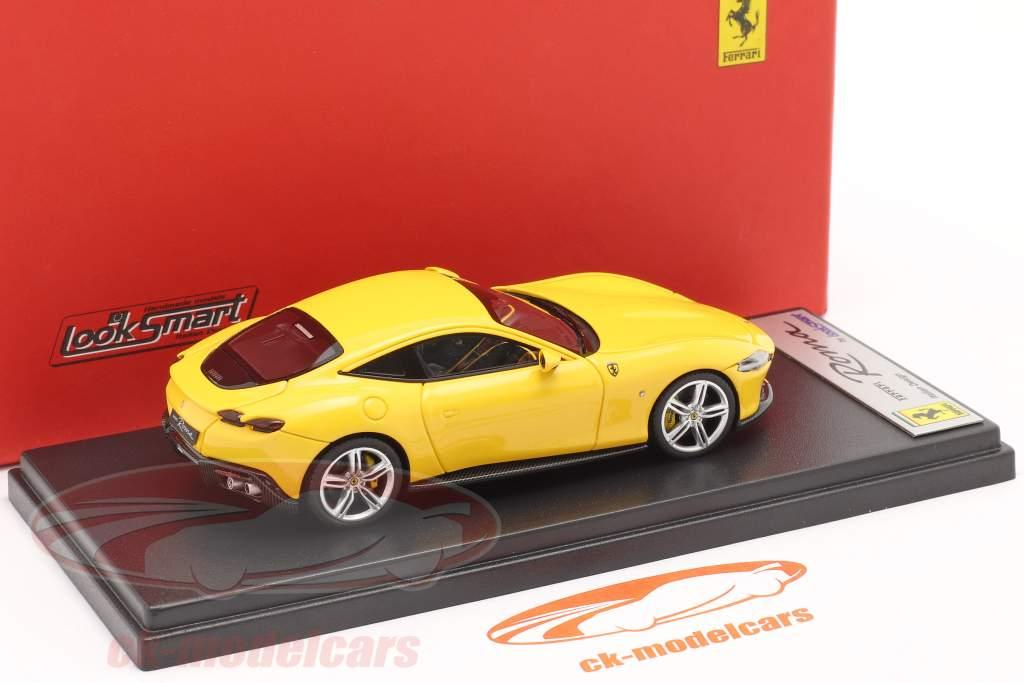 Ferrari Roma Bouwjaar 2020 geel 1:43 LookSmart
