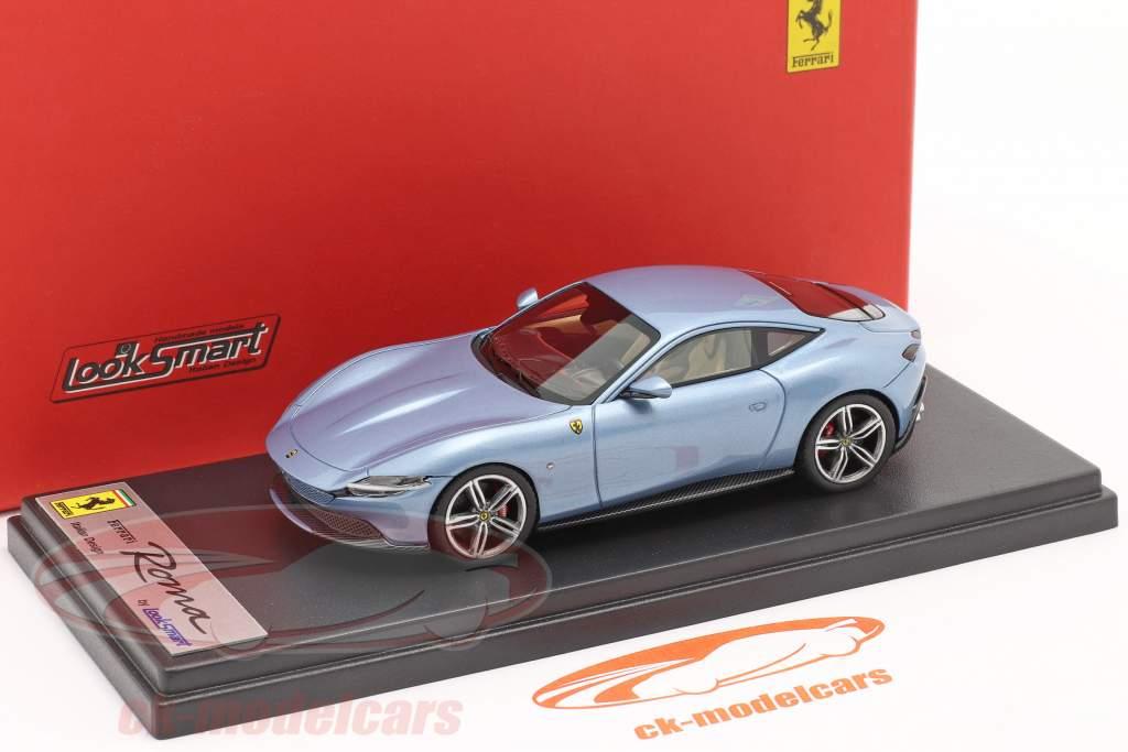 Ferrari Roma Ano de construção 2020 Califórnia Azul claro metálico 1:43 LookSmart