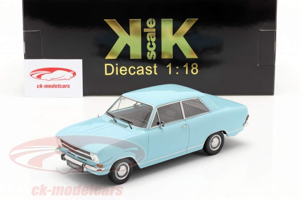 Opel Kadett B Byggeår 1965 Lyseblå 1:18 KK-Scale