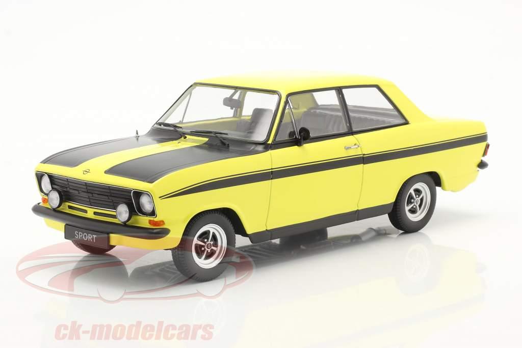 Opel Kadett B Sport Byggeår 1973 gul / sort 1:18 KK-Scale