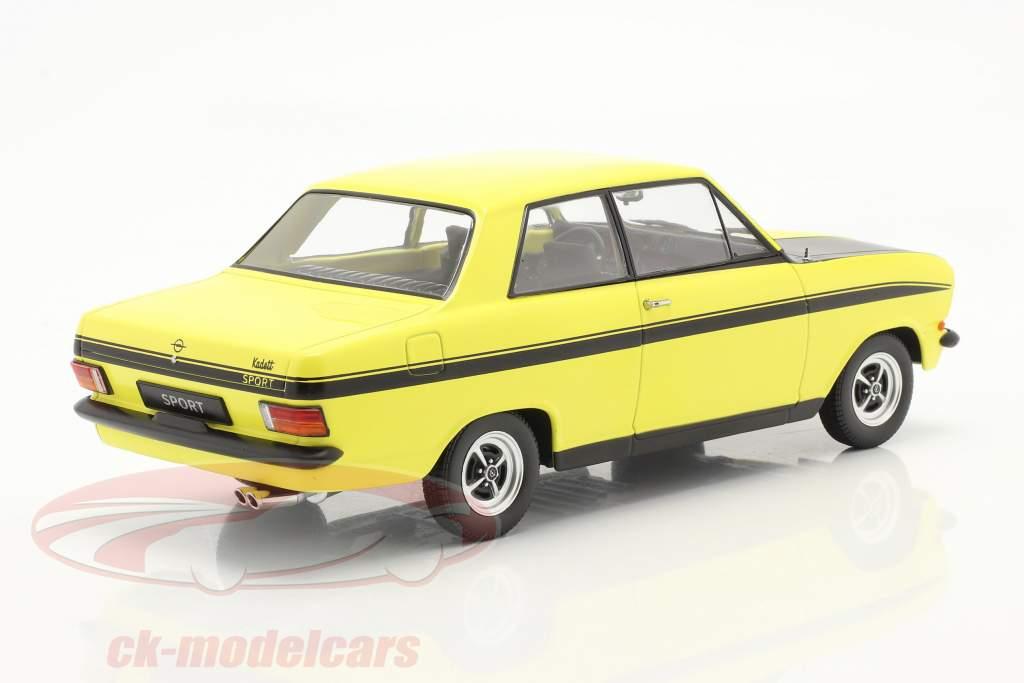 Opel Kadett B Sport Baujahr 1973 gelb / schwarz 1:18 KK-Scale