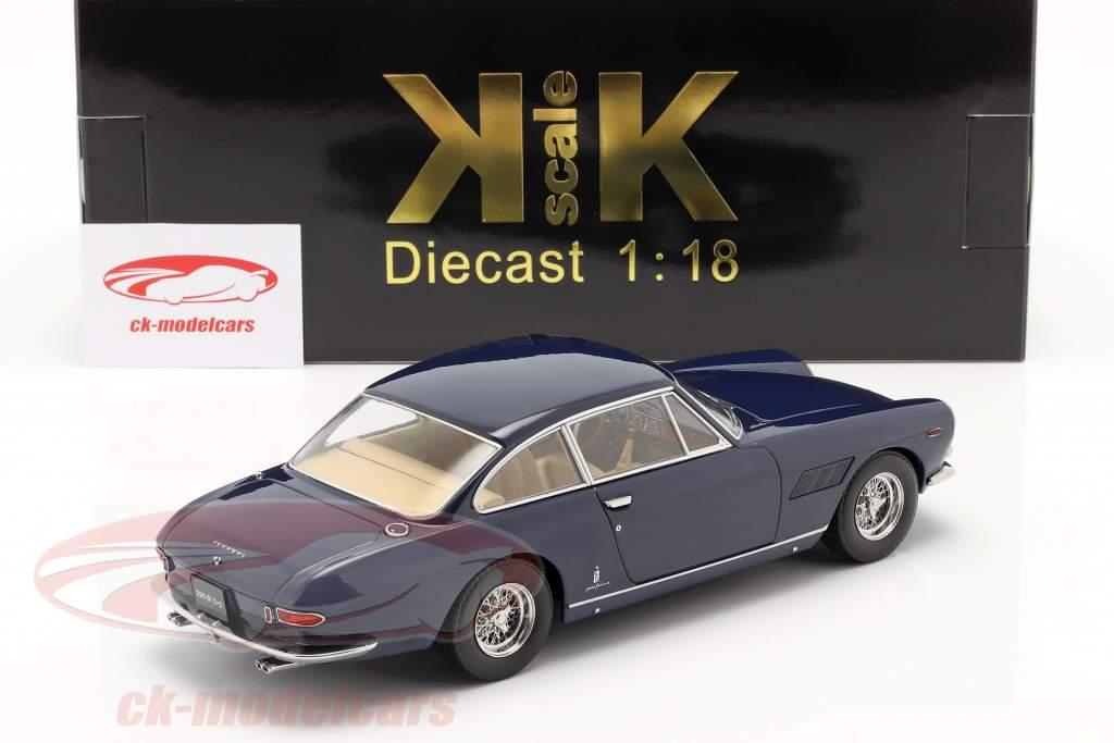 Ferrari 330 GT 2+2 Année de construction 1964 bleu foncé 1:18 KK-Scale