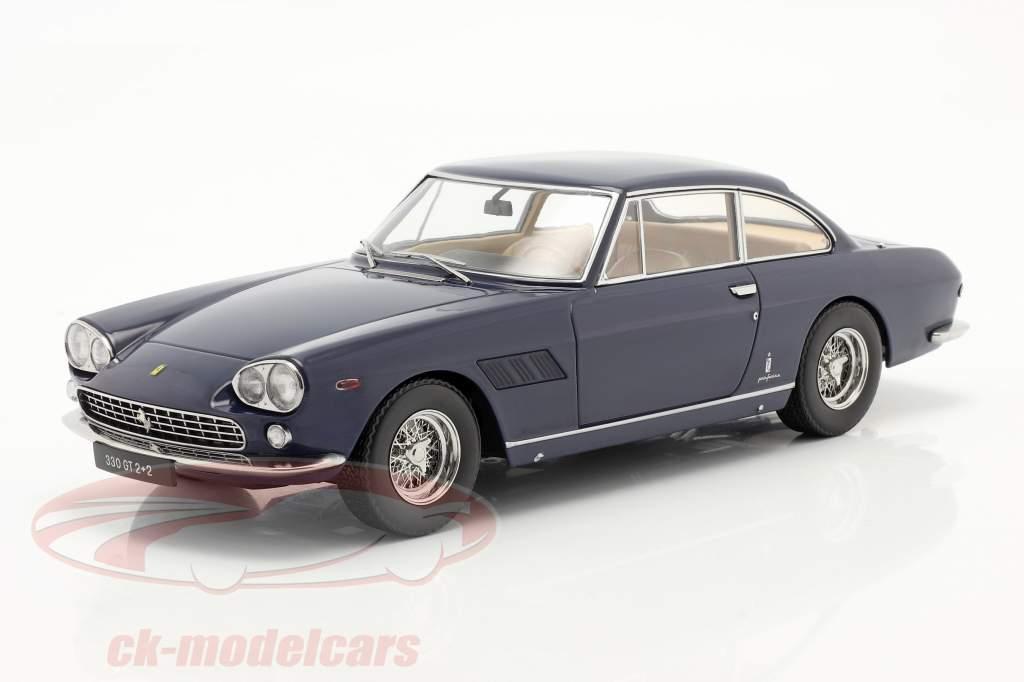Ferrari 330 GT 2+2 Anno di costruzione 1964 blu scuro 1:18 KK-Scale