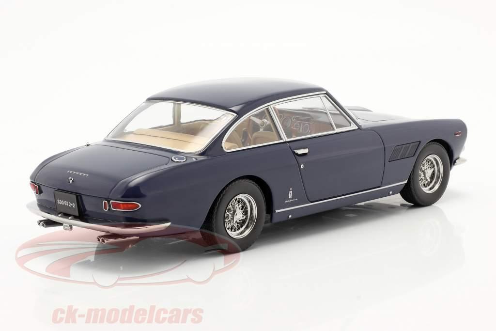Ferrari 330 GT 2+2 Ano de construção 1964 azul escuro 1:18 KK-Scale
