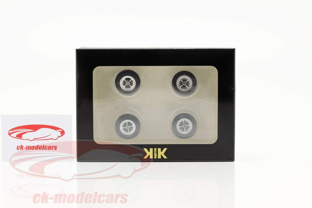 Opel Kadett B banden en velgen Set 1:18 KK-Scale