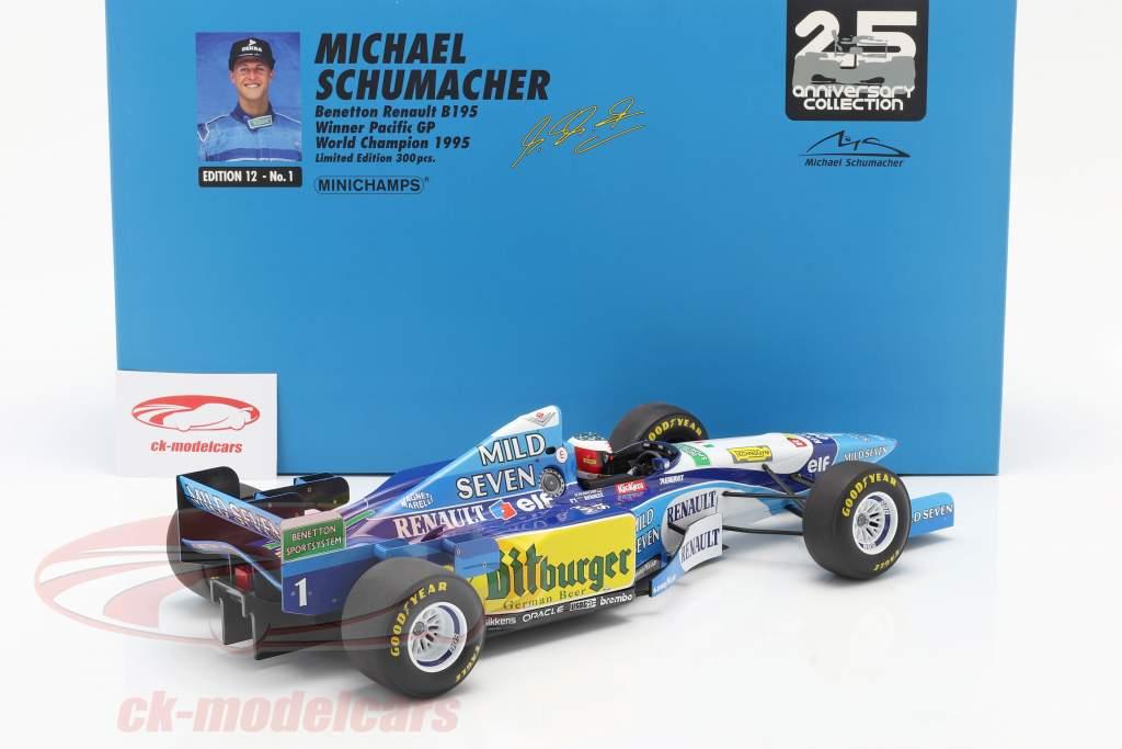 M. Schumacher Benetton B195 #1 Sieger Pazifik GP F1 Weltmeister 1995 1:12 Minichamps