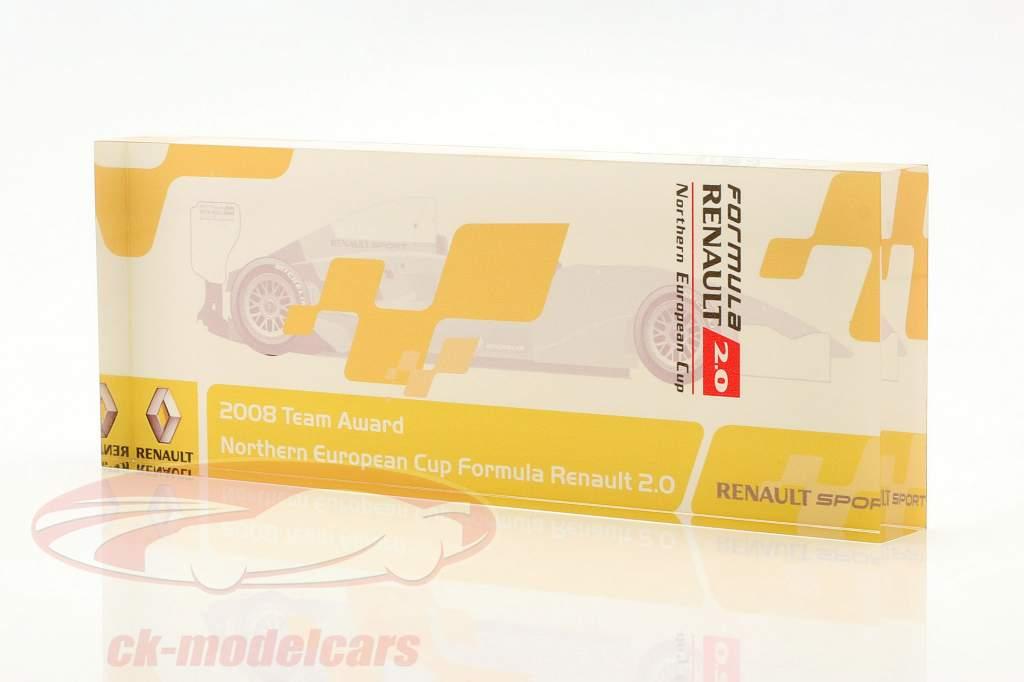 Coupe en verre formule Renault 2.0 NEC équipe Prix Renault Sport 2008