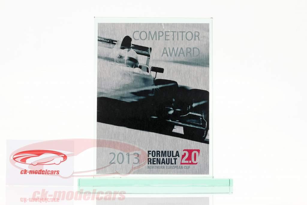 Coupe en verre formule Renault 2.0 NEC Concurrent Prix Renault Sport 2013