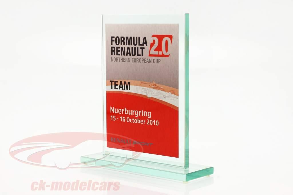 Glazen beker formule Renault 2.0 NEC team Prijs Renault Sport Nürburgring 2010