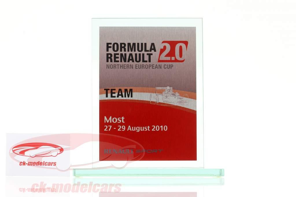 Copa de vidrio fórmula Renault 2.0 NEC equipo Otorgar Renault Sport Most 2010