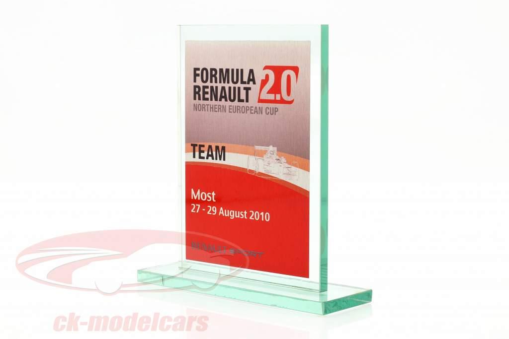Copo de vidro Fórmula Renault 2.0 NEC equipe Prêmio Renault Sport Most 2010