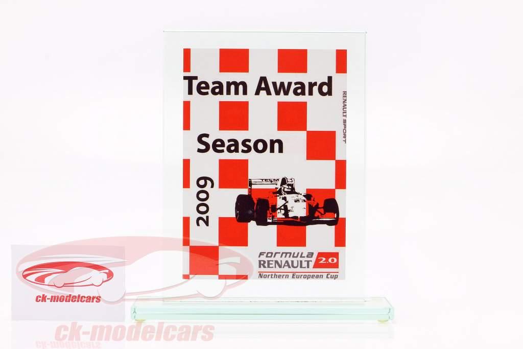 Copa de vidrio fórmula Renault 2.0 NEC equipo Otorgar Renault Sport 2009