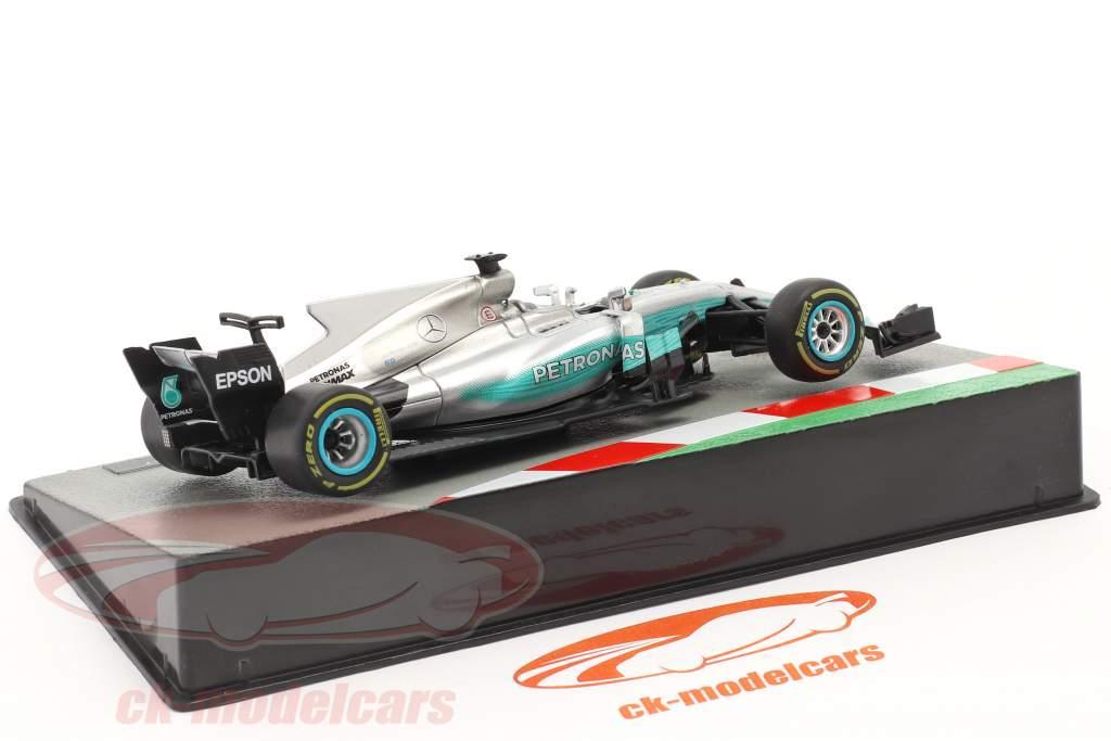 L. Hamilton Mercedes F1 W08 #44 winnaar Chinese GP F1 Wereldkampioen 2017 1:43 Altaya