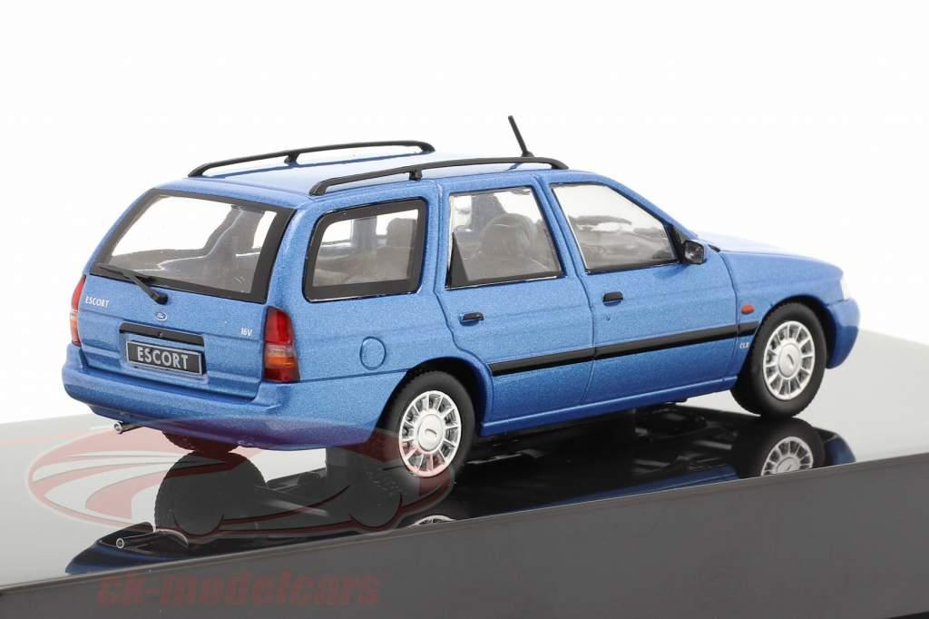 Ford Escort Turnier Ano de construção 1996 azul metálico 1:43 Ixo