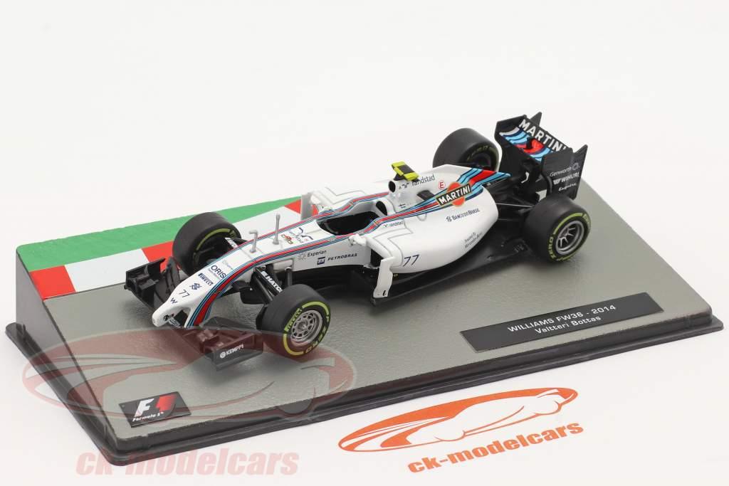 Valtteri Bottas Williams FW36 #77 2 ° Britannico GP formula 1 2014 1:43 Altaya