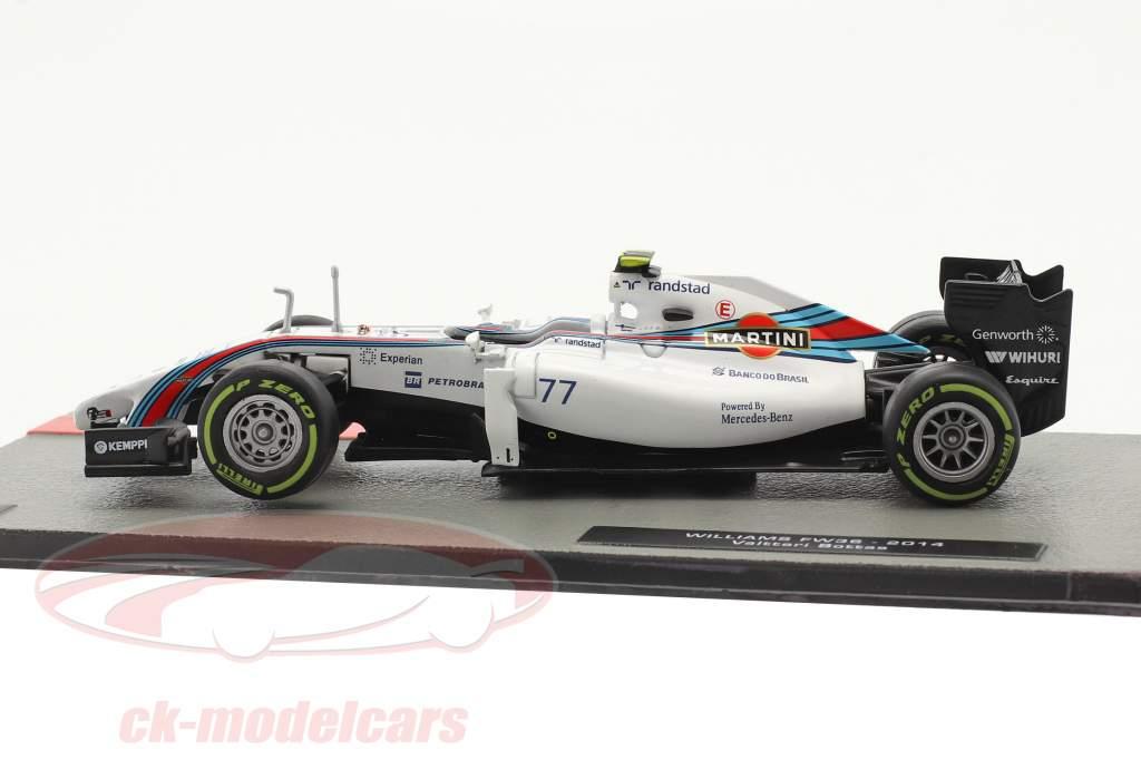Valtteri Bottas Williams FW36 #77 2do británico GP fórmula 1 2014 1:43 Altaya