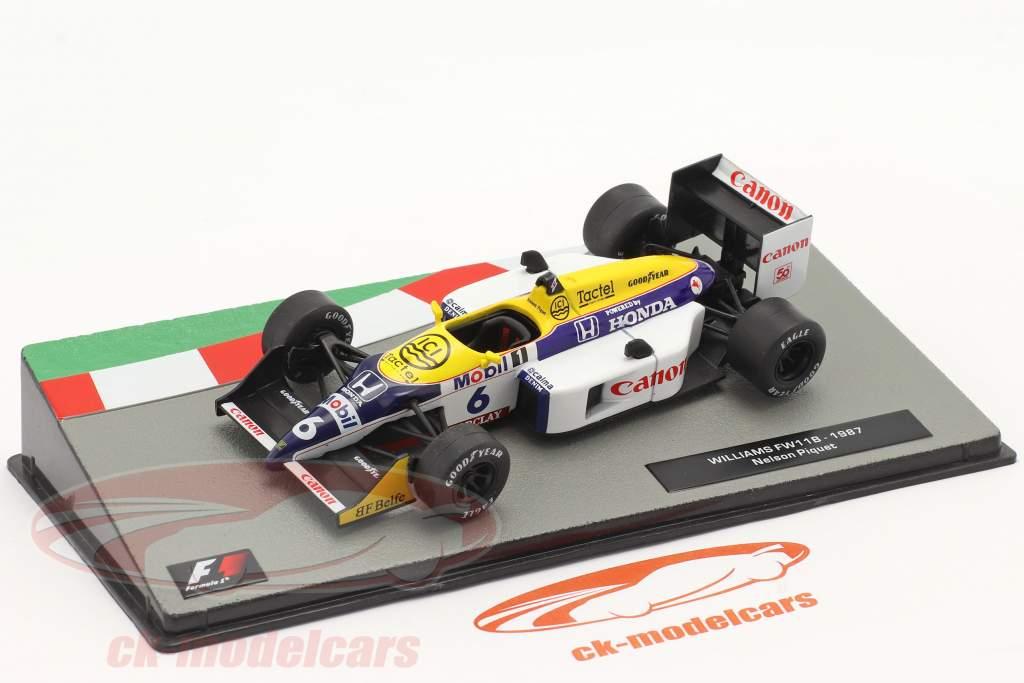 Nelson Piquet Williams FW11B #6 Formel 1 Weltmeister 1987 1:43 Altaya