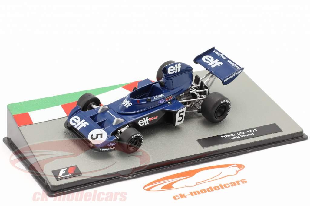 Jackie Stewart Tyrrell 006 #5 formule 1 Champion du monde italien GP 1973 1:43 Altaya