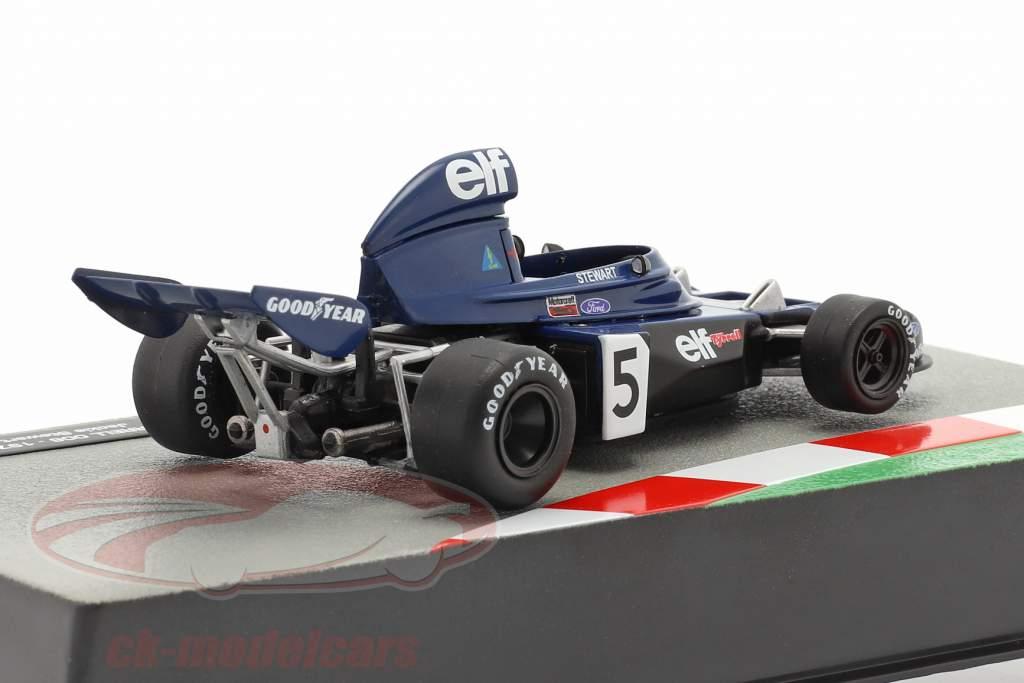 Jackie Stewart Tyrrell 006 #5 formel 1 Verdensmester Italiensk GP 1973 1:43 Altaya
