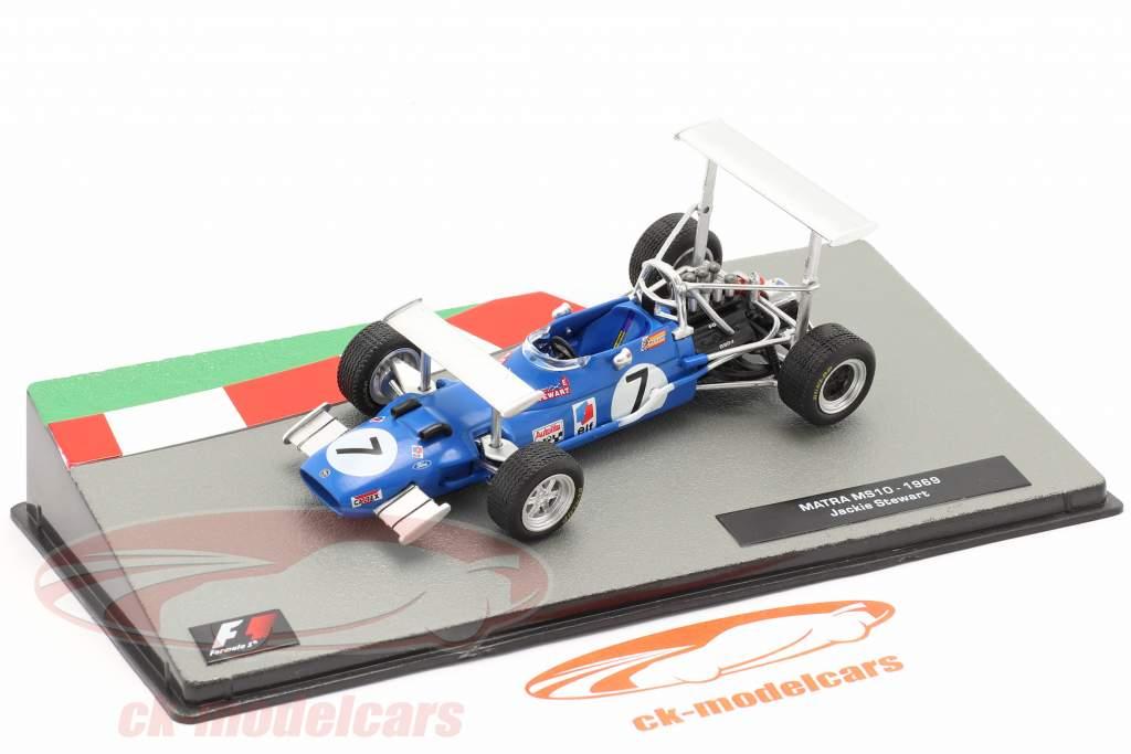Jackie Stewart Matra MS10 #7 vincitore Sud africano GP formula 1 Campione del mondo 1969 1:43 Altaya
