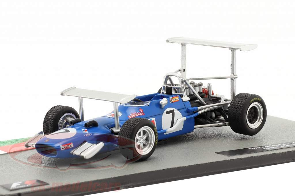 Jackie Stewart Matra MS10 #7 ganador Sur africano GP fórmula 1 Campeón mundial 1969 1:43 Altaya