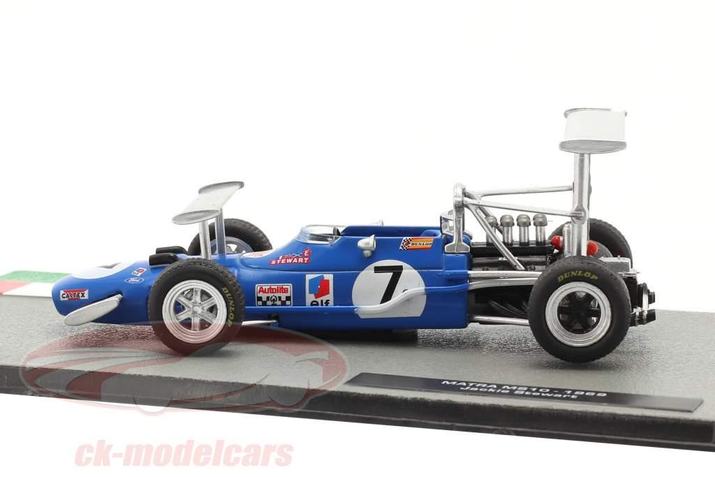 Jackie Stewart Matra MS10 #7 vencedora Sul africano GP Fórmula 1 Campeão mundial 1969 1:43 Altaya