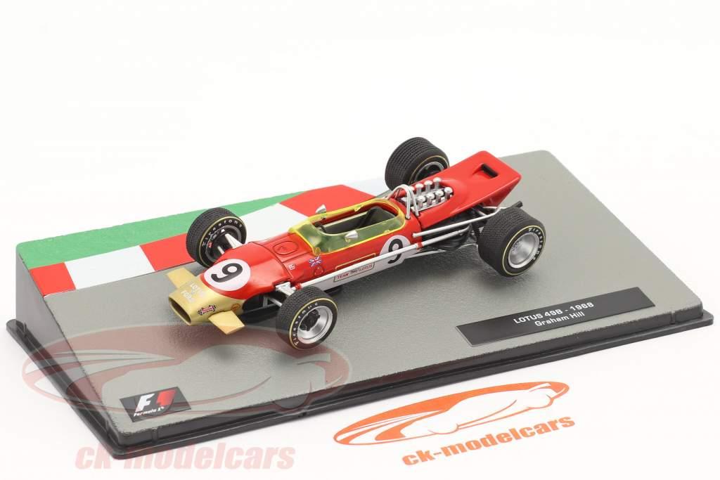 Graham Hill Lotus 49B #9 winnaar Monaco GP formule 1 Wereldkampioen 1968 1:43 Altaya
