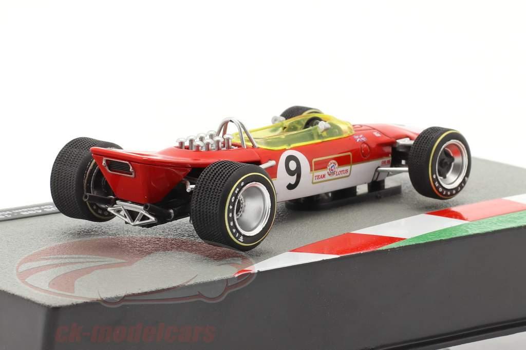 Graham Hill Lotus 49B #9 vencedora Monaco GP Fórmula 1 Campeão mundial 1968 1:43 Altaya