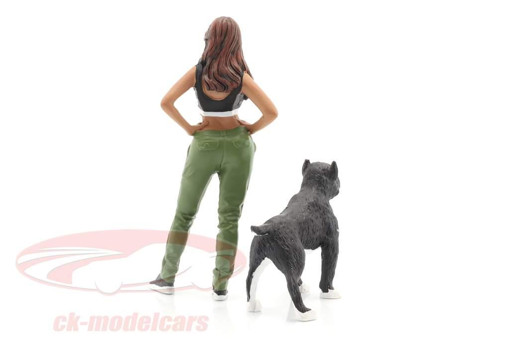 Lowriders Figur #4 mit Hund 1:18 American Diorama