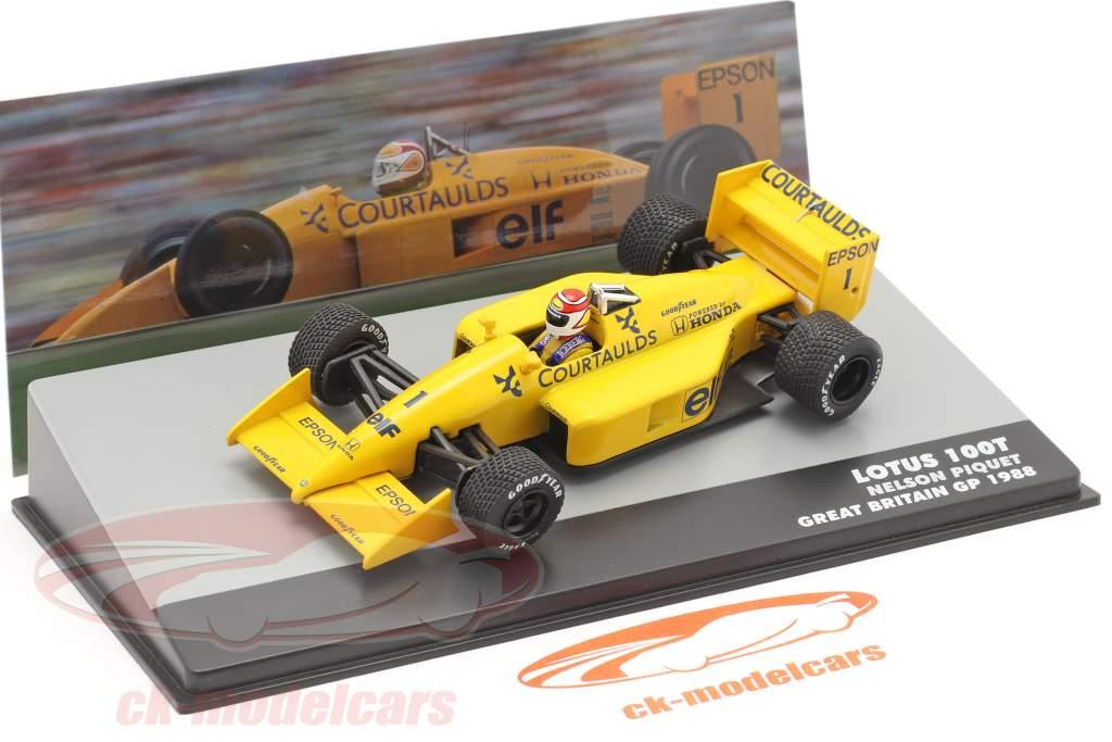 Nelson Piquet Lotus 100T #1 Gran Bretagna GP formula 1 1988 1:43 Altaya