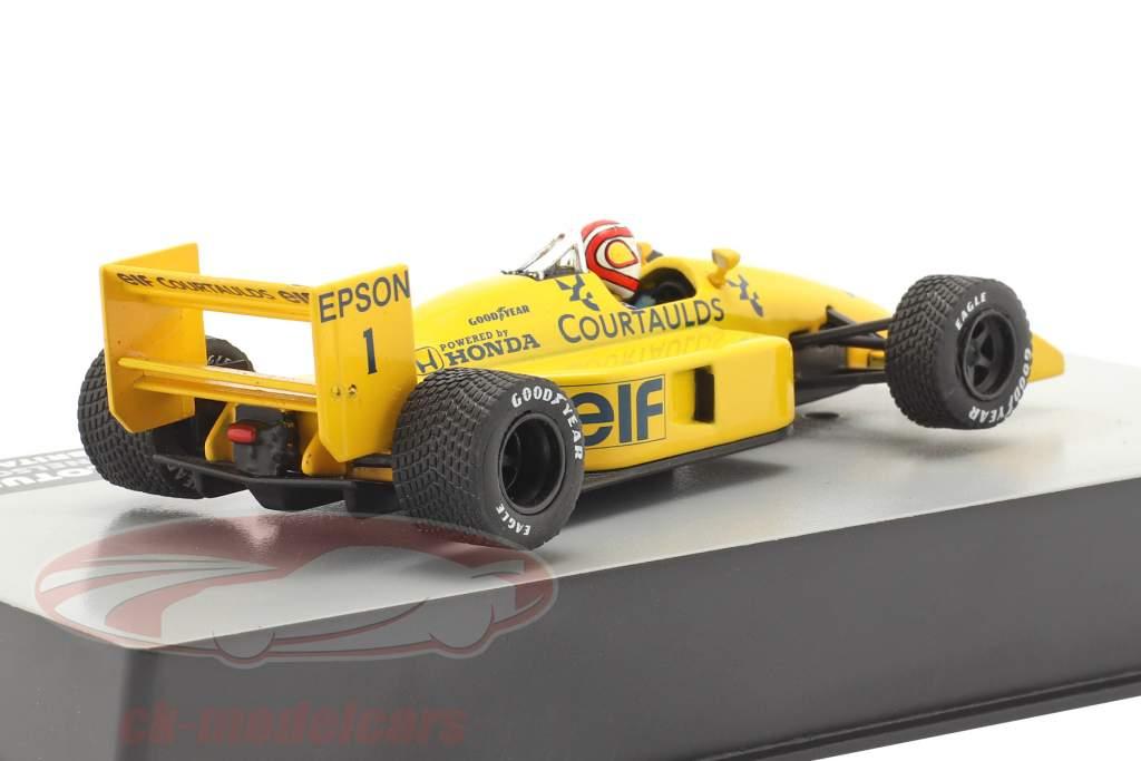 Nelson Piquet Lotus 100T #1 Grã-Bretanha GP fórmula 1 1988 1:43 Altaya