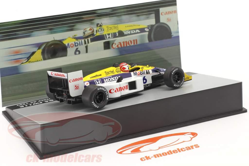 Nelson Piquet Williams FW11B #6 vencedora italiano GP F1 Campeão mundial 1987 1:43 Altaya
