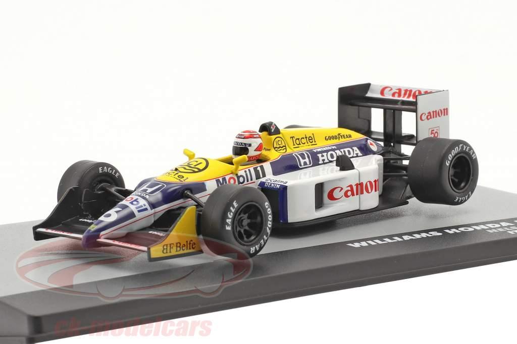 Nelson Piquet Williams FW11B #6 vincitore italiano GP F1 Campione del mondo 1987 1:43 Altaya