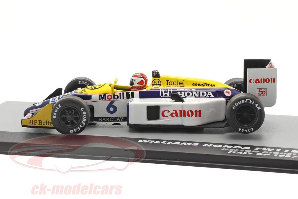 Nelson Piquet Williams FW11B #6 Sieger Italien GP F1 Weltmeister 1987 1:43 Altaya