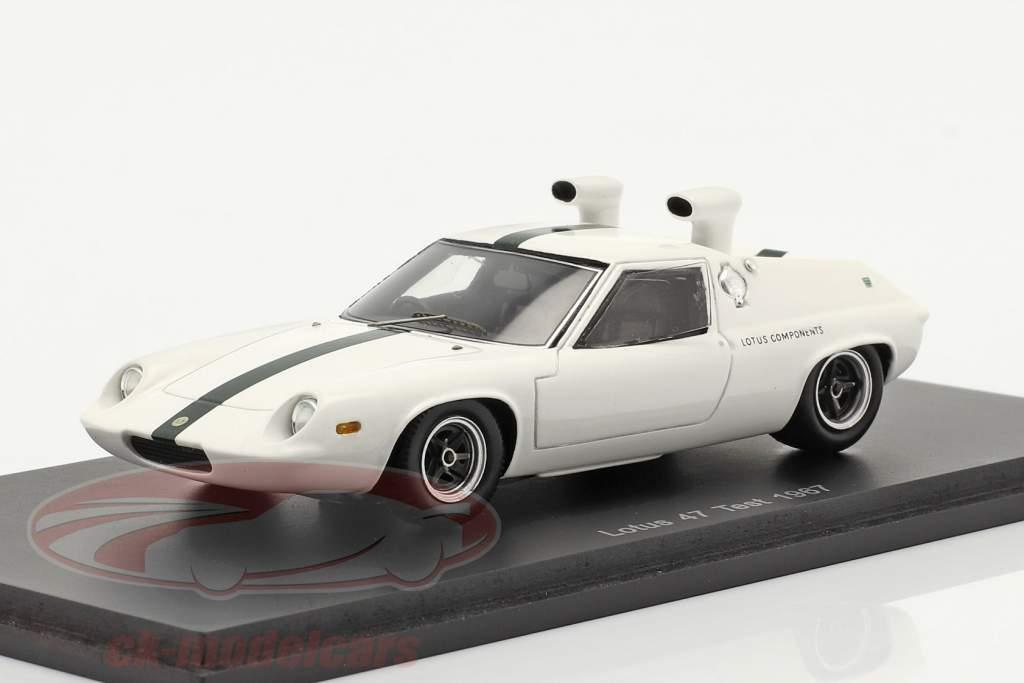 Lotus 47 Schnorkel test Auto 1967 Wit 1:43 Spark