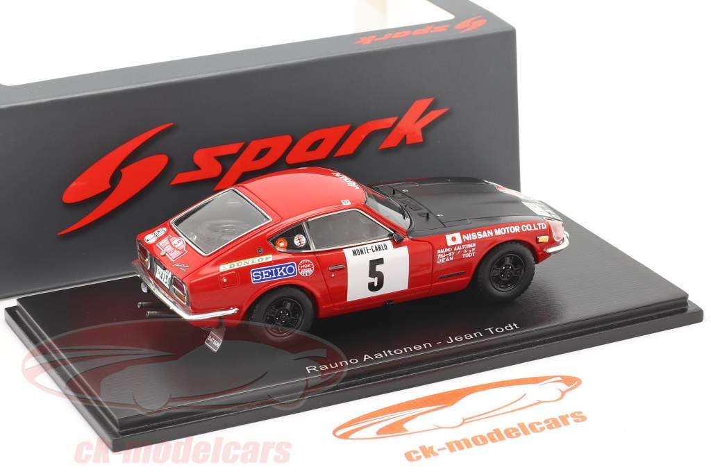 Datsun 240Z #5 3rd Rallye Monte Carlo 1972 Aaltonen, Todt 1:43 Spark