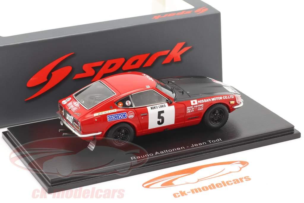 Datsun 240Z #5 Tercero Rallye Monte Carlo 1972 Aaltonen, Todt 1:43 Spark