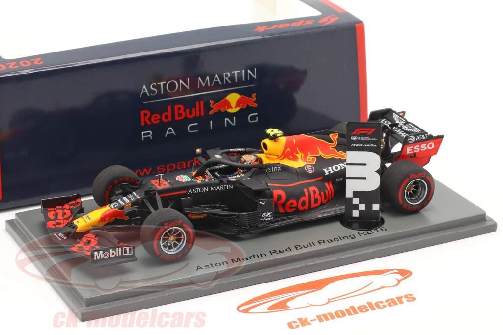 Alexander Albon Red Bull Racing RB16 #23 Tercero Toscano GP fórmula 1 2020 1:43 Spark