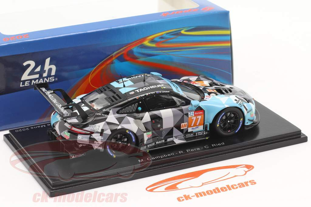 Porsche 911 RSR #77 2. plads LMGTE-Am 24h LeMans 2020 Dempsey-Proton Racing 1:43 Spark