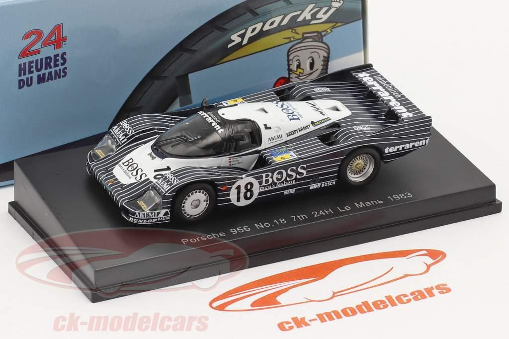 Porsche 956 #18 7e 24h LeMans 1983 Plankenhorn, Wilson, Lässig 1:64 Spark