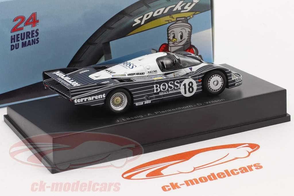 Porsche 956 #18 7. 24h LeMans 1983 Plankenhorn, Wilson, Lässig 1:64 Spark